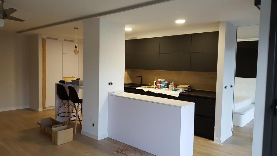 Cocina -salon luz indirecta