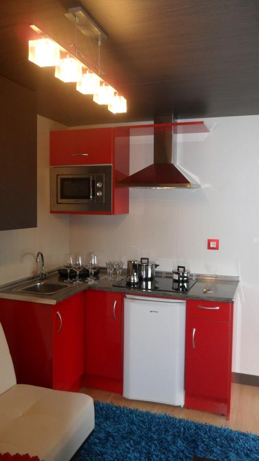 cocina - salon  vivienda prefabricada