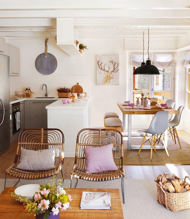 6 maneras de separar el sal n y la cocina ideas arquitectos - Como decorar un salon en forma de l ...
