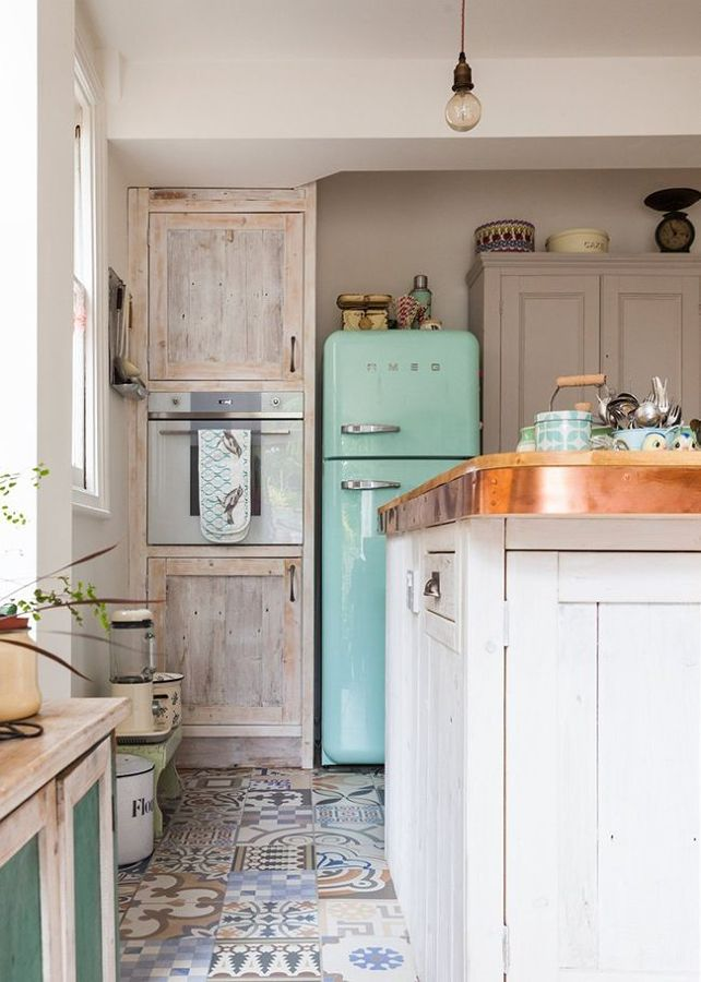 Suelos Rusticos Para Cocinas. Ladrillo Visto Cocina Grande Con Isla ...