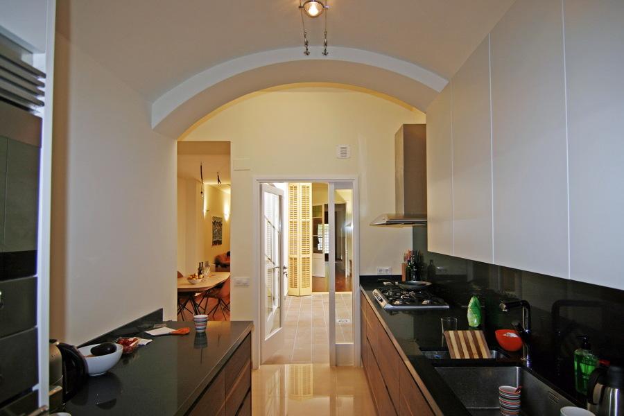 Cocina y patio interior
