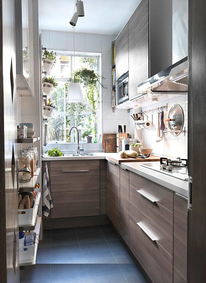 Perfecto Cocinas Estrechas Componente - Ideas de Decoración de ...