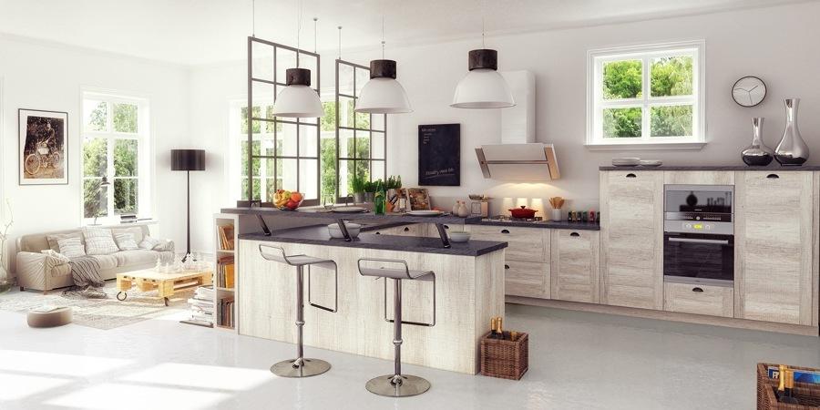 Open concept 10 ideas para tener una cocina abierta al for Cocinas abiertas al comedor