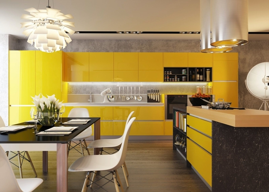 Cocinas a todo color ideas decoradores - Cocinas amarillas ...