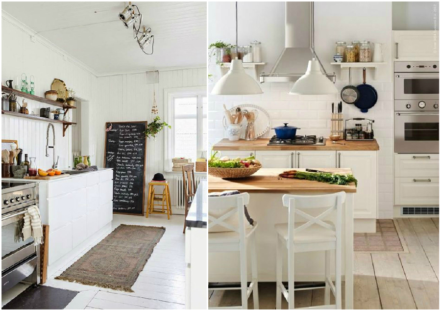 6 formas de dar a tu cocina un toque vintage ideas - Cocina rustica blanca ...