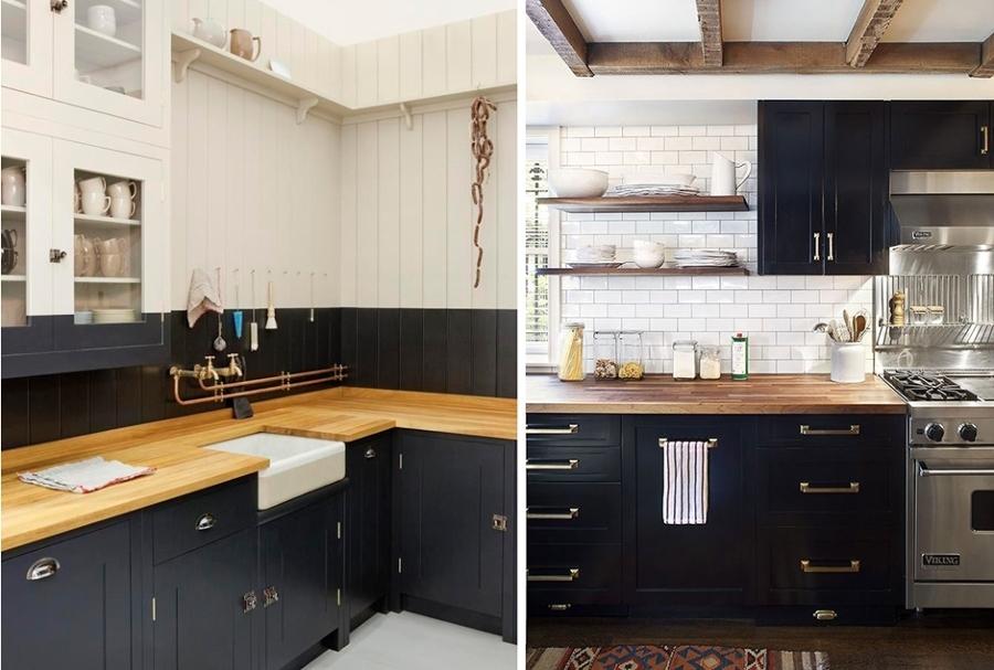 Blanco y negro el yin y el yang de las cocinas ideas for Cocina negra ikea