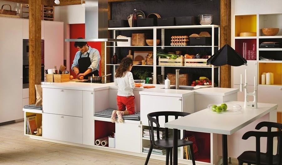 cocinas con bancos para nios