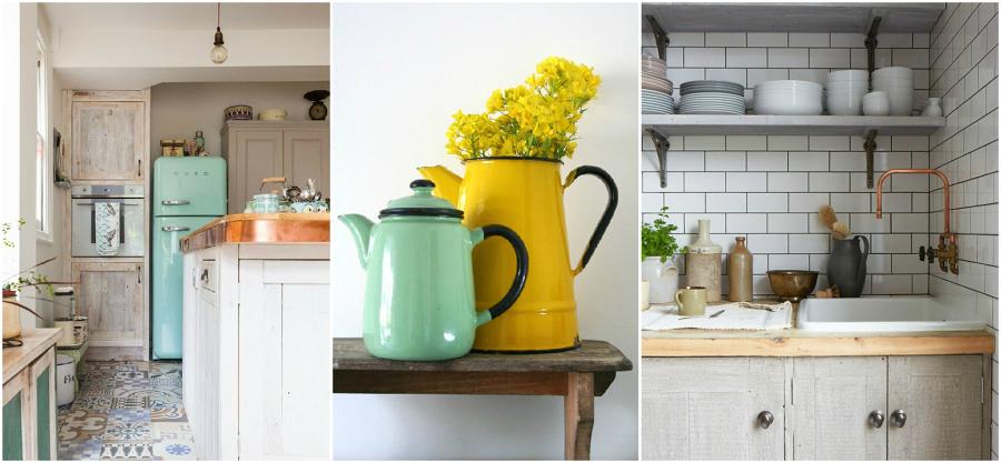 6 formas de dar a tu cocina un toque vintage ideas decoradores - Cocinas retro vintage ...