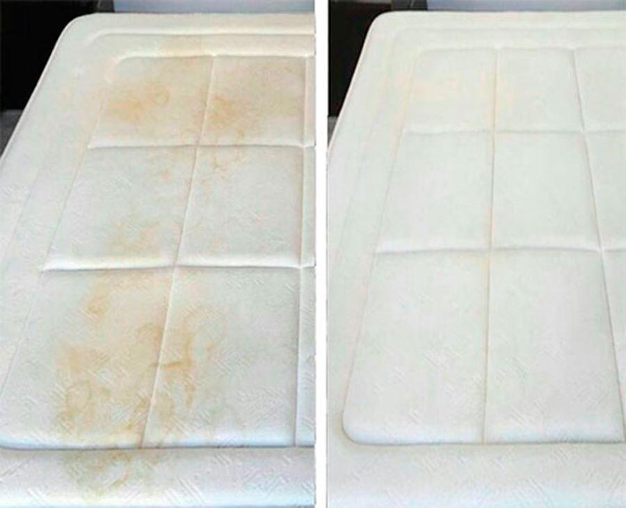 Colchón con huellas humedad