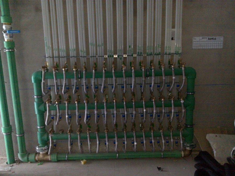Colector contadores agua fria