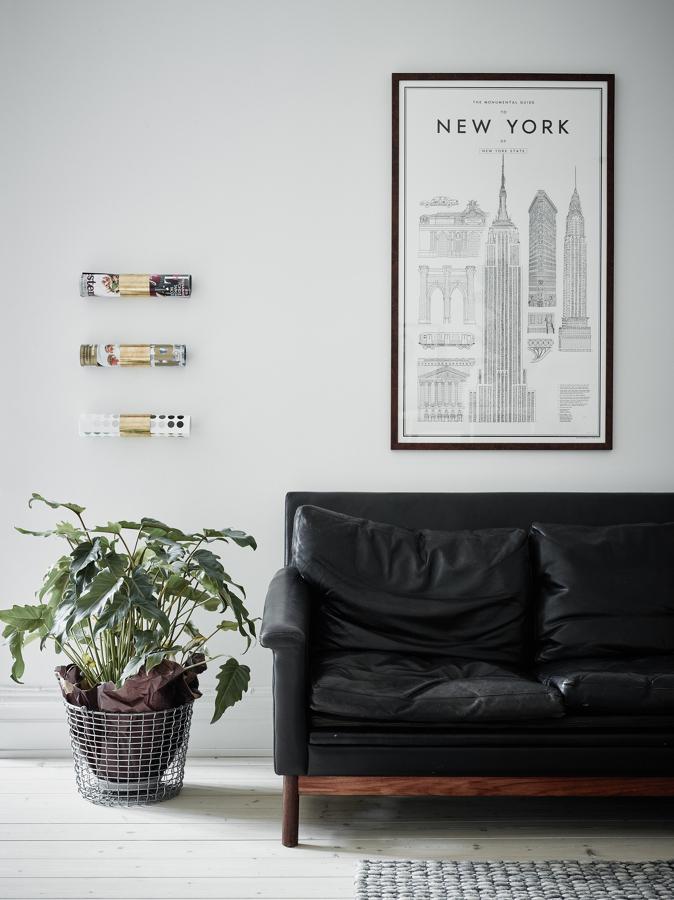 decoración revistas colgadas