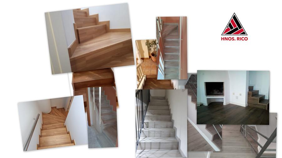 collage trabajos forrado escaleras HNOS RICO