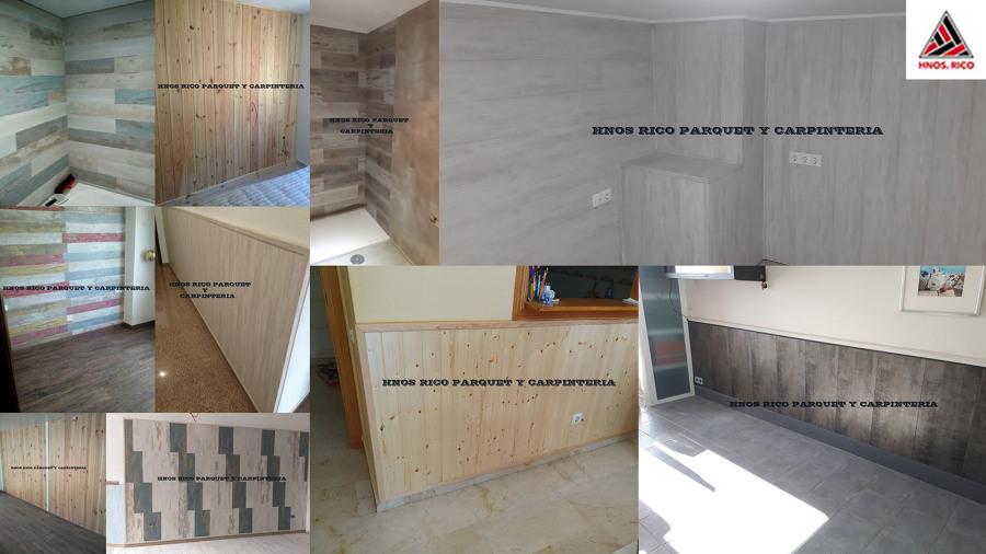 collage trabajos Revestimientos Pared HNOS RICO