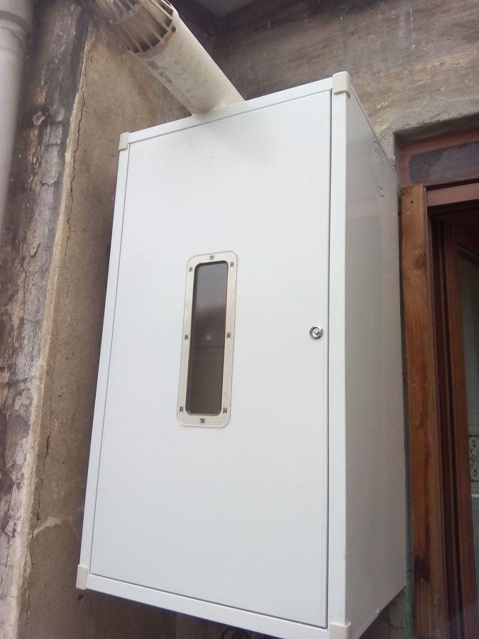 Alba iler a y fontaner a en bilbao ideas reformas ba os - Armario exterior caldera gas ...