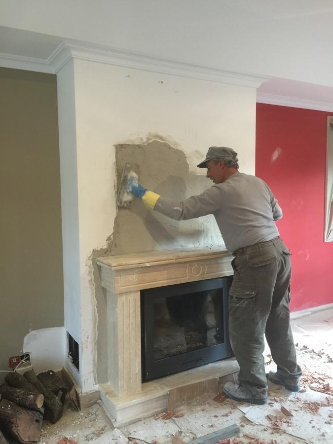 Instalaci n y construcci n de chimenea en las rozas - Como hacer una chimenea de obra ...