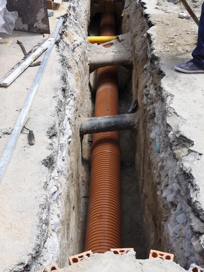 Colocación de nuevo tubo sn8 315 mm