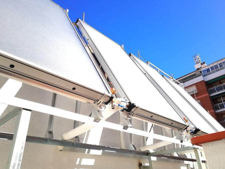 Colocación de paneles solares