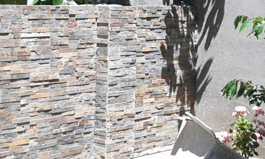 Foto colocaci n de piedra natural en muro de benito - Muro de piedra natural ...