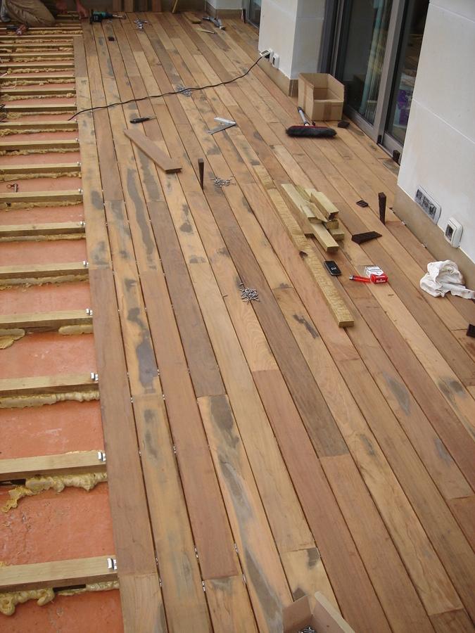 Reparaci n de cubierta y colocaci n de tarima de ipe - Como colocar tarima de madera ...