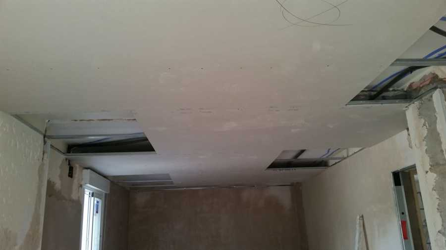colocación de techo