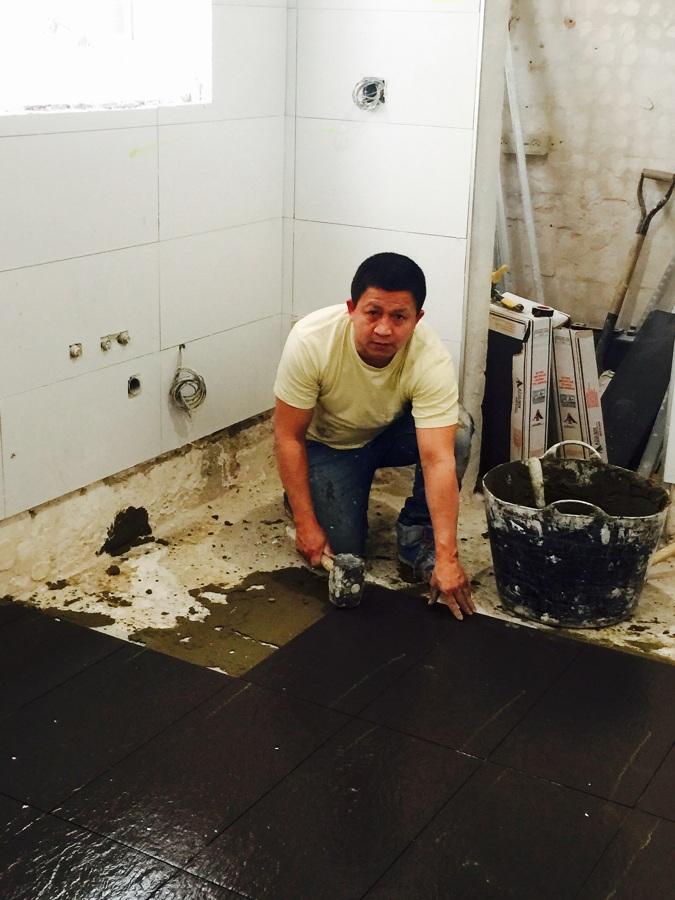 Colocación suelo cocina