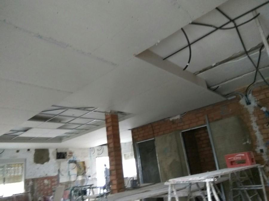 Colocación techo de pladur