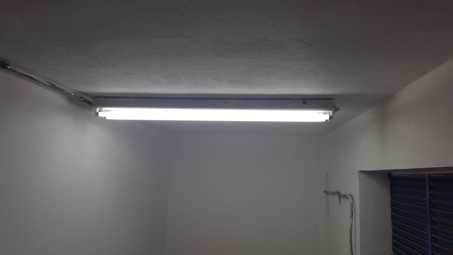 Colocando los Tubos LED