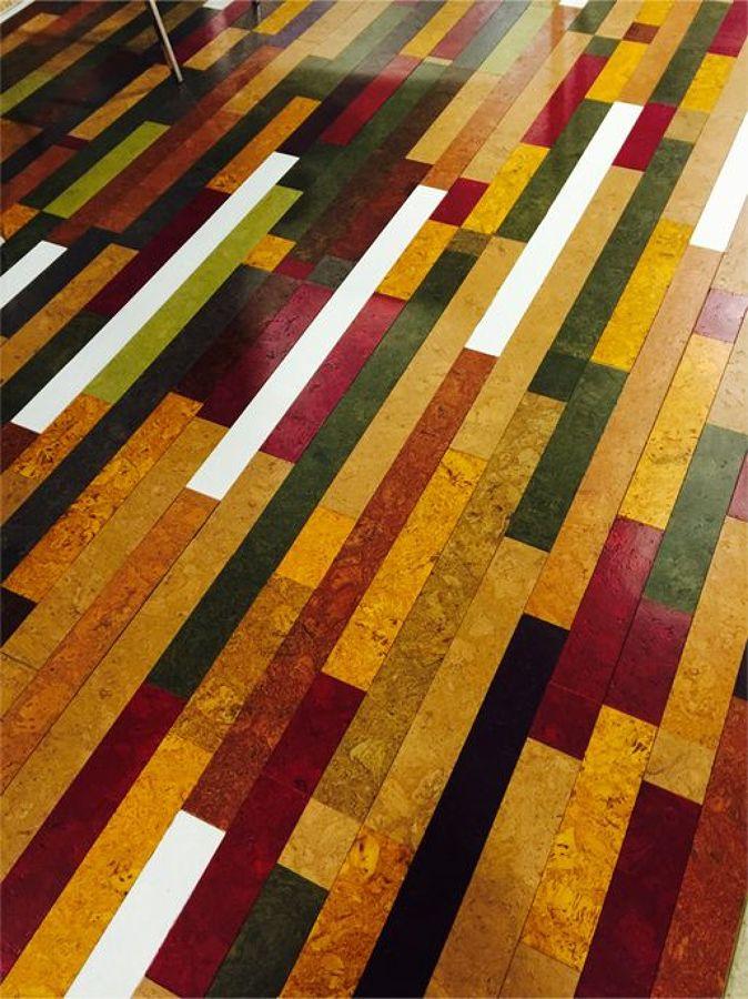 Foto suelo de corcho de colores de interiorismo 1111589 - Suelo de corcho precio ...