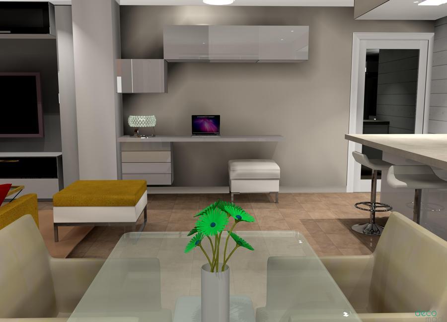 Comedor abierto a cocina 3D
