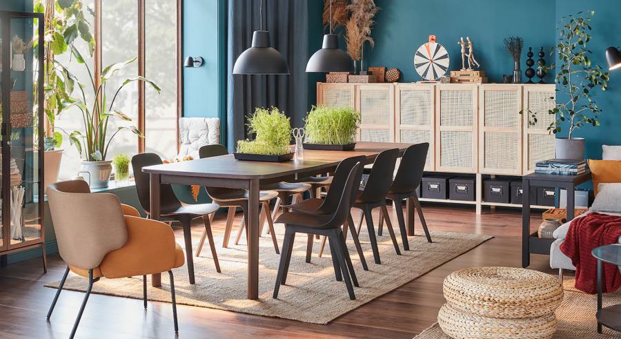 Comedor con mesa y sillas de IKEA