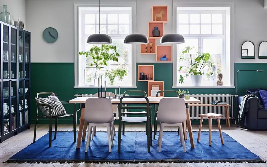 Comedor con sillas distintas de IKEA