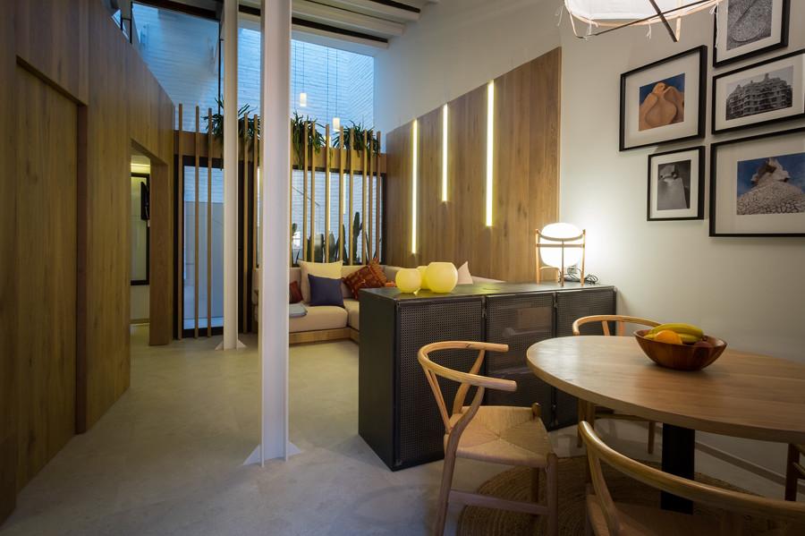 Un oasis en la gran ciudad de 57 m ideas arquitectos - Salon comedor cocina mismo espacio ...