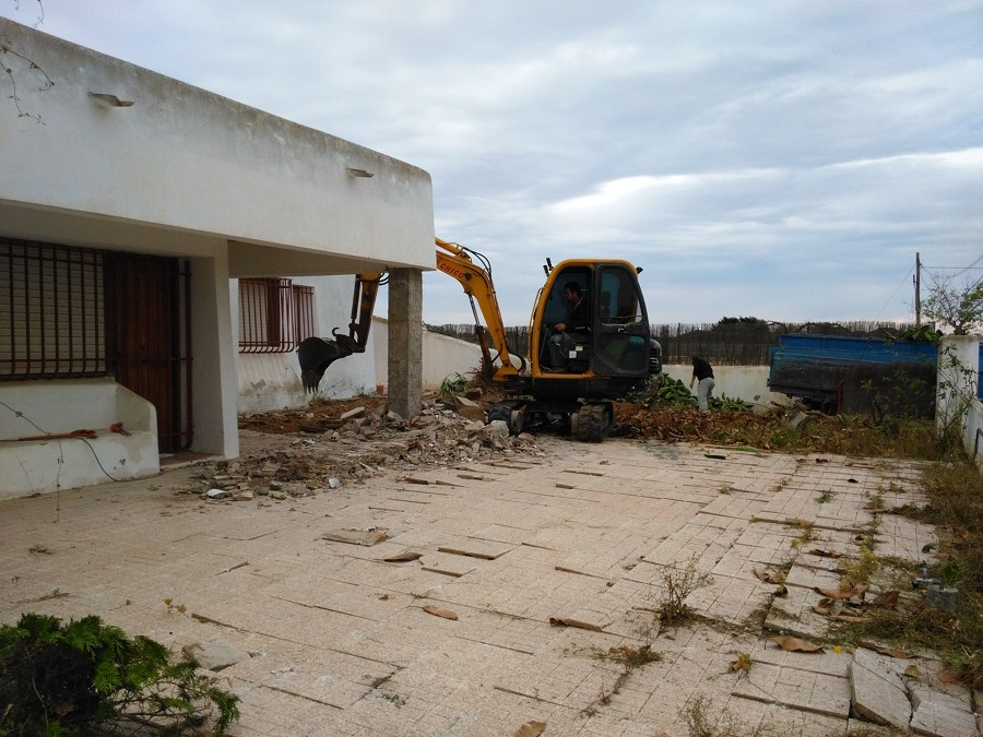 Comenzando la excavación