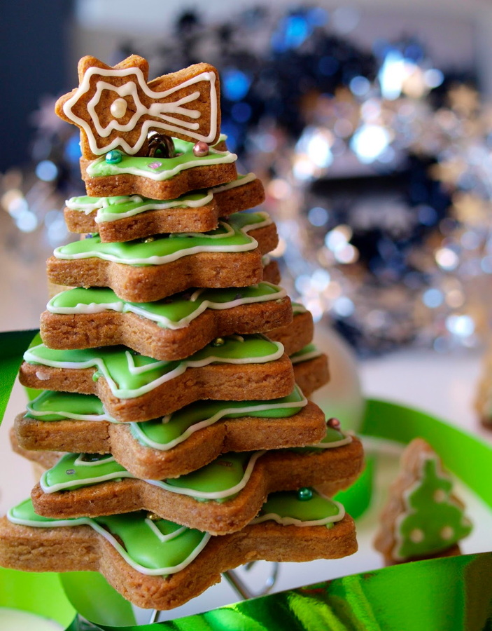 árbol de navidad comestible