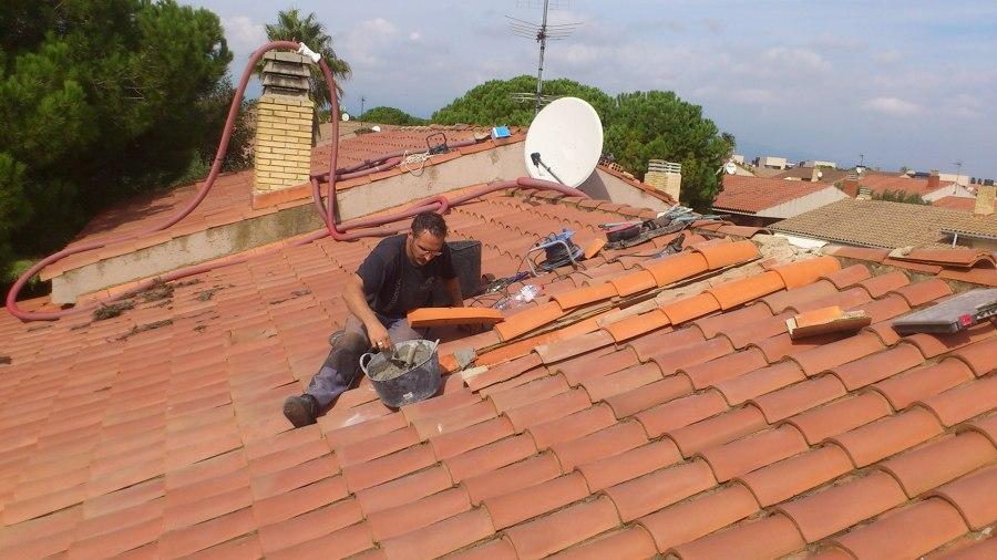 Aislar tejado o techo t rmicamente con celulosa barcelona - Dibujos de tejados ...