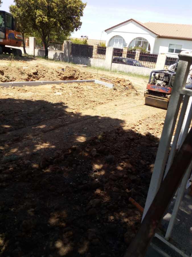 Compactación base terraza nueva