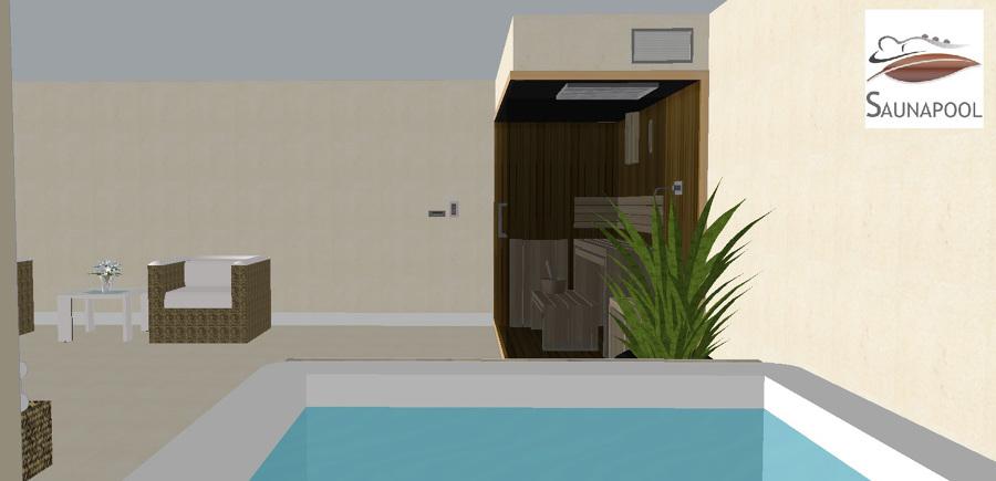 Compacto de sauna ducha y spa para casa particular - Construccion de saunas ...