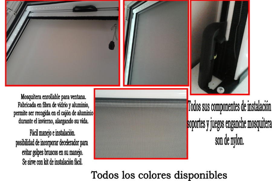 Componentes mosquitera enrollable