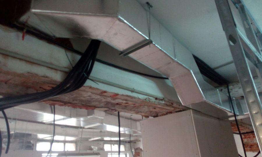 conducto de fibra para la climatizacion