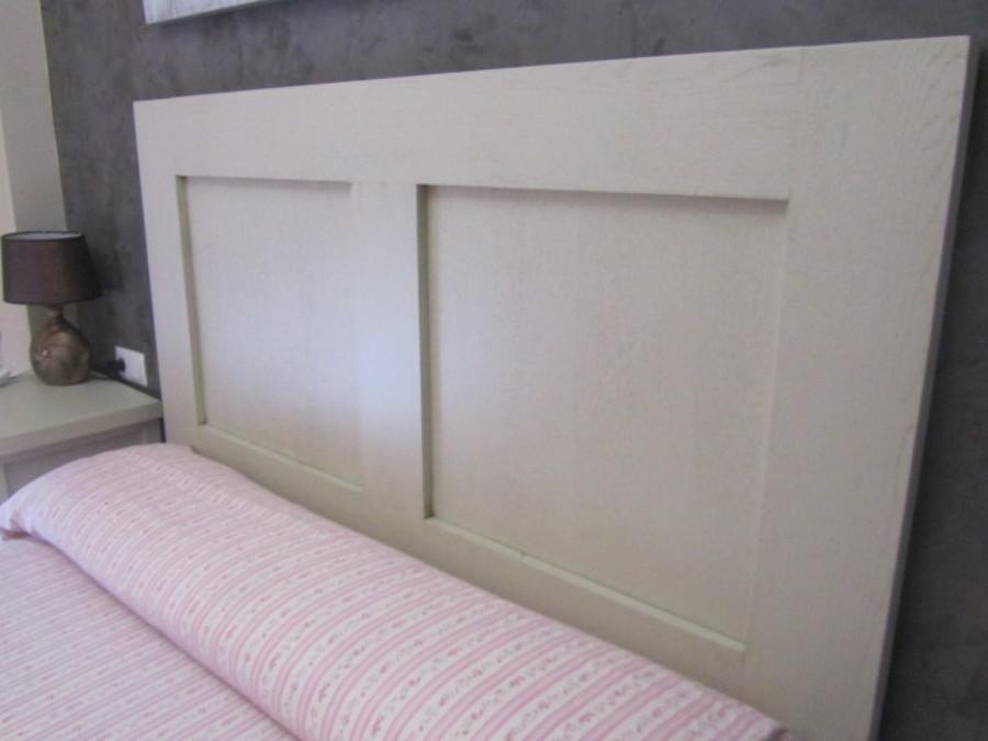 Conjunto cabecero y mesitas de noche fabricado en madera hecho a medida y pintado en blanco - Cabeceros de madera a medida ...