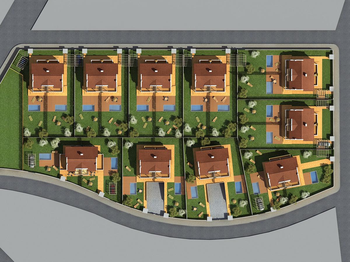 Foto conjunto de 20 viviendas unifamiliares en roda de - Proyectos de viviendas unifamiliares ...