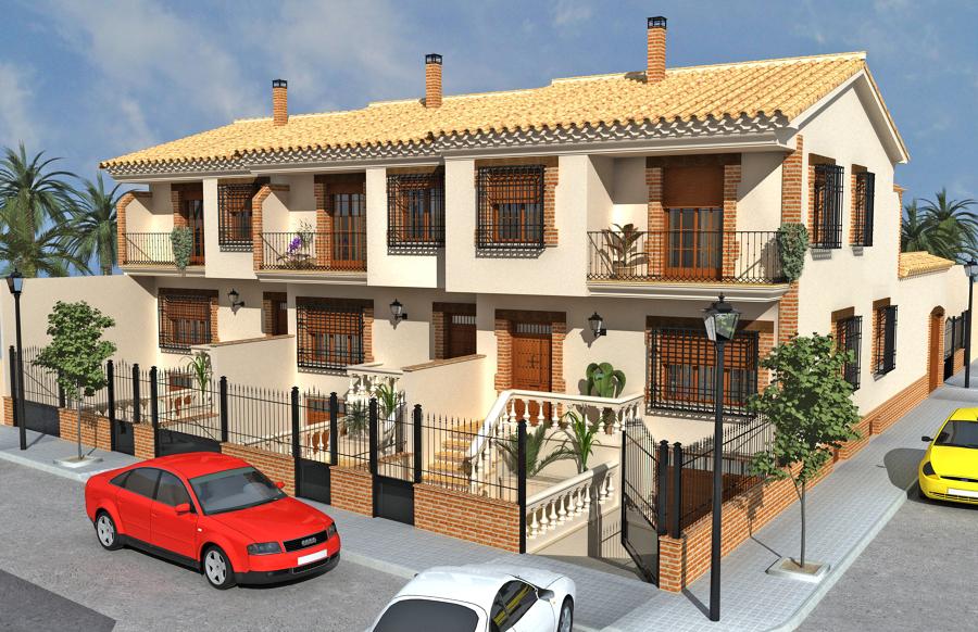 Foto: Construccion de 6 Casas Adosadas en Ossa de Montiel. de Mora ...