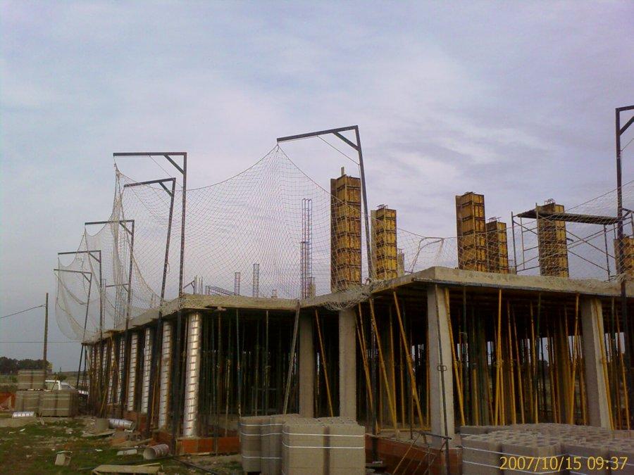 Construcción de estructura del edificio