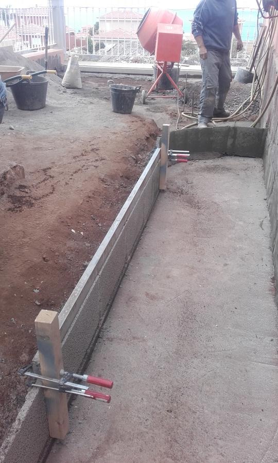 Construccion de jardinera