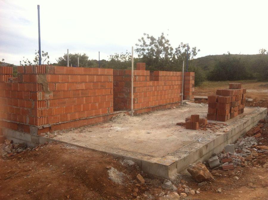 Construccion de muro de carga