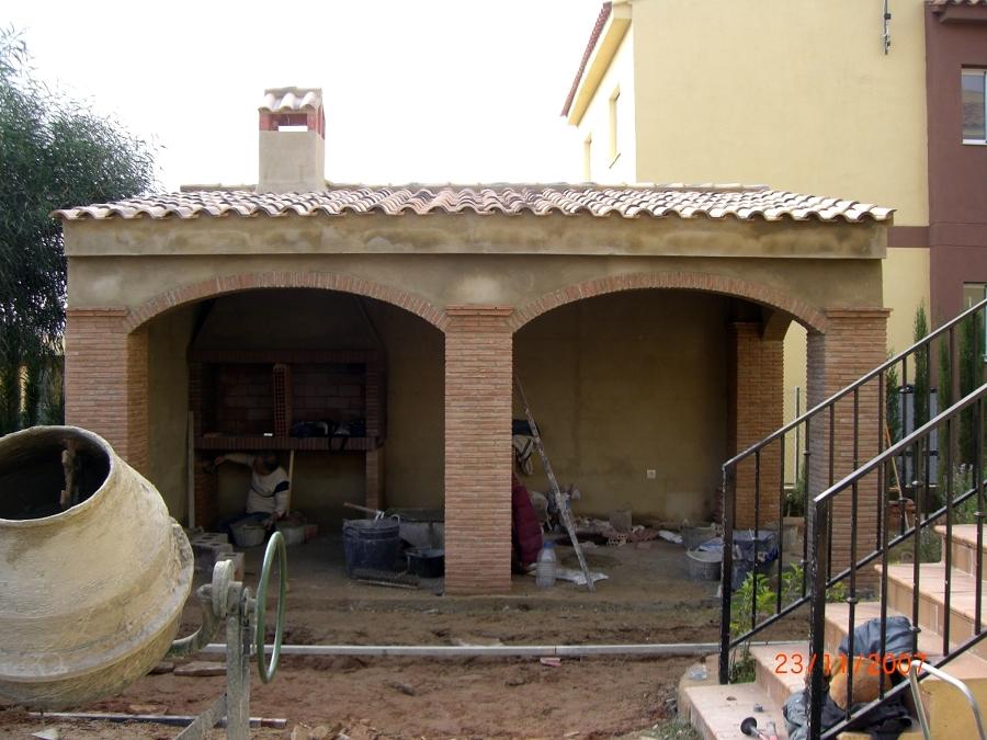Construccion de porche de obra