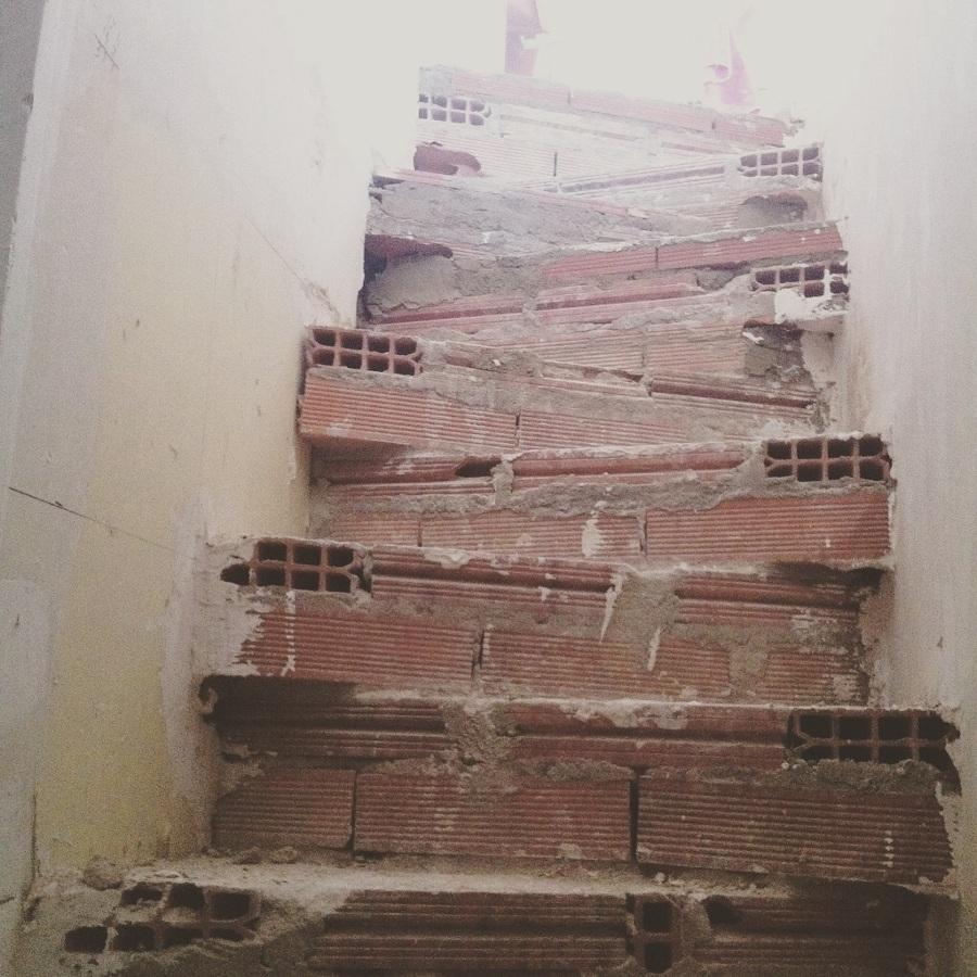 Construcción escalera