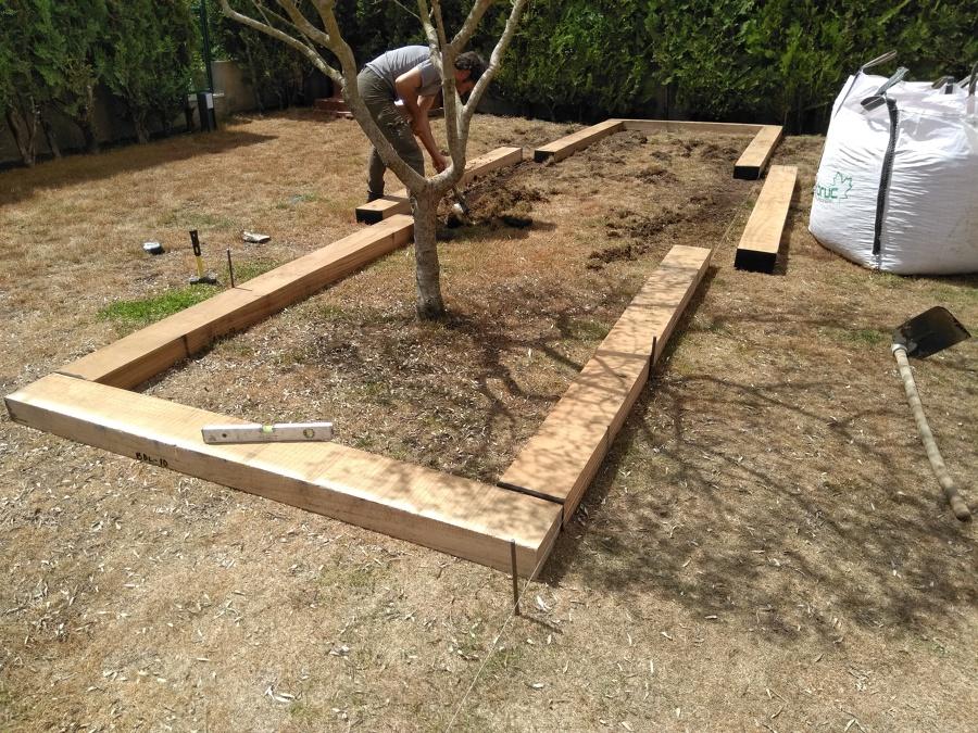 Construcción jardinera