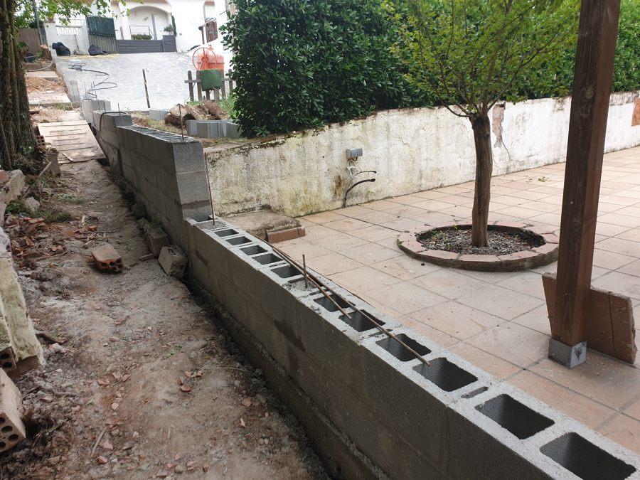 Construcción Muro de bloques