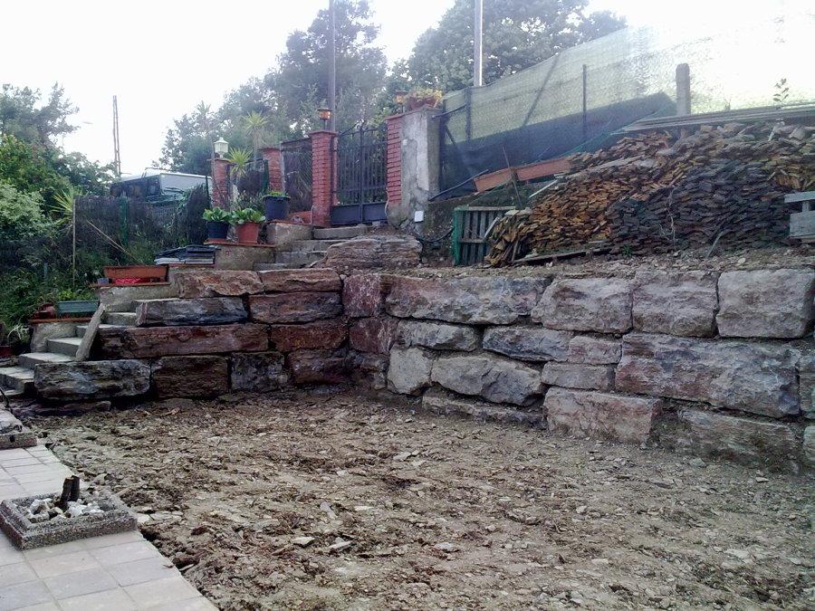 Construcci n muro de rocalla ideas construcci n muros - Muros de rocalla ...